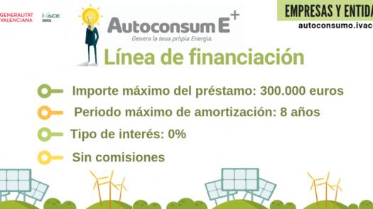 Ayudas para el autoconsumo eléctrico en empresas y entidades de Valencia 2020
