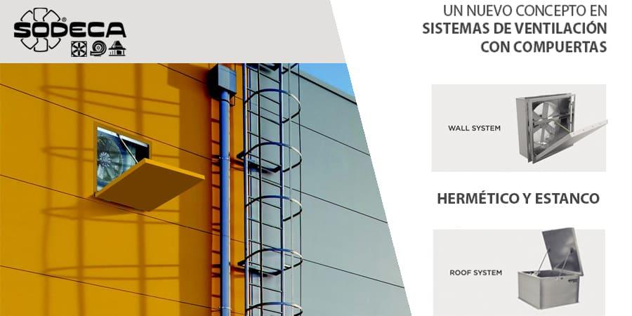 Nueva solución en sistemas de ventilación con compuertas de Sodeca