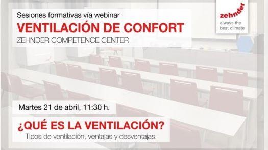 Webinar Zehnder: ¿qué es la ventilación?