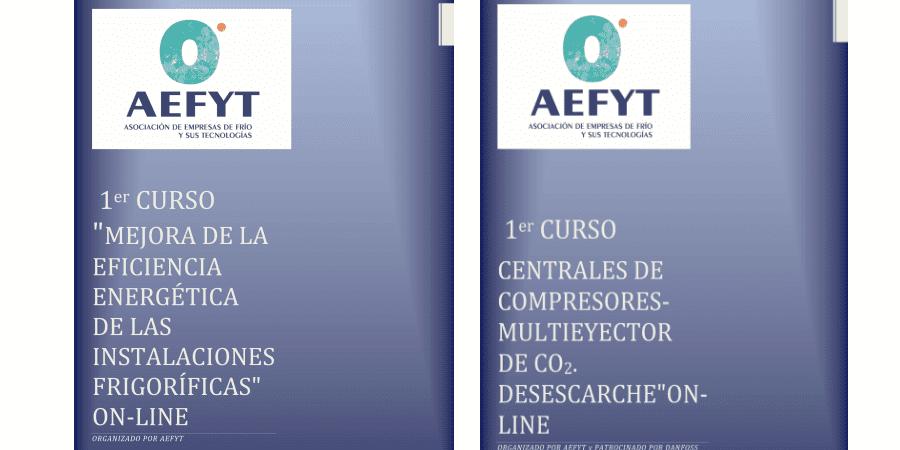 Cursos online de refrigeración de Aefyt previstos para mayo