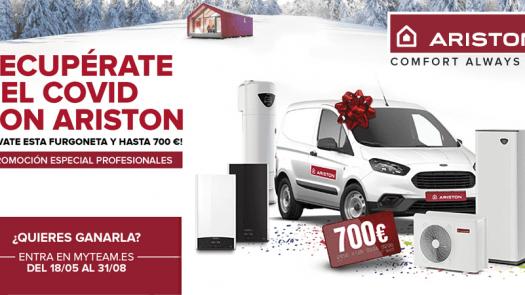 Ariston regala una furgoneta Ford Transit Courier en una promoción especial para ayudar a los instaladores profesionales