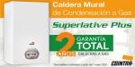 Garantía total de 2 años en calderas a gas de condensación Superlative Plus de Cointra