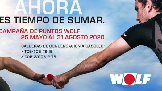 Campaña de puntos Wolf para instaladores de calderas de condensación a gasóleo