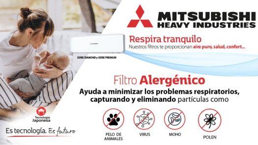 Aire puro, salud y confort con el filtro alergénico de Mitsubishi Heavy Industries
