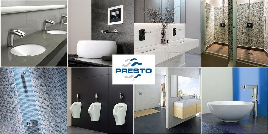 Grifería electrónica inteligente de Presto para optimizar la higiene y el confort