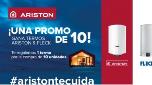 Regalo de un termo eléctrico Ariston o Fleck en una promoción orientada al instalador