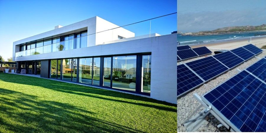 aerotermia con fotovoltaica vivienda unifamiliar