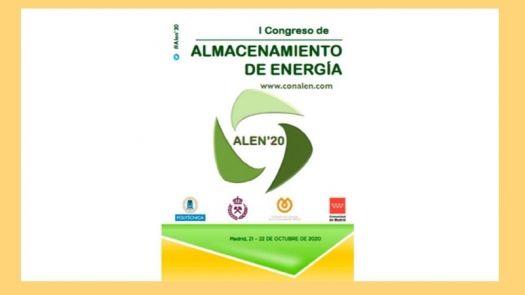El I Congreso de Almacenamiento de Energía ALEN'20 se celebrará online en octubre