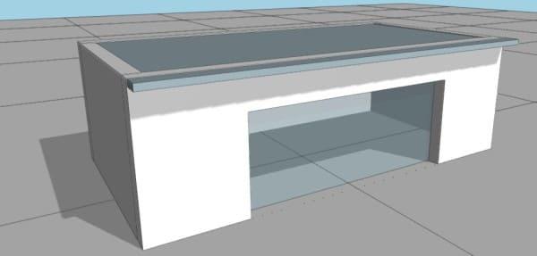 geometria vivienda con voladizo de 50 cm