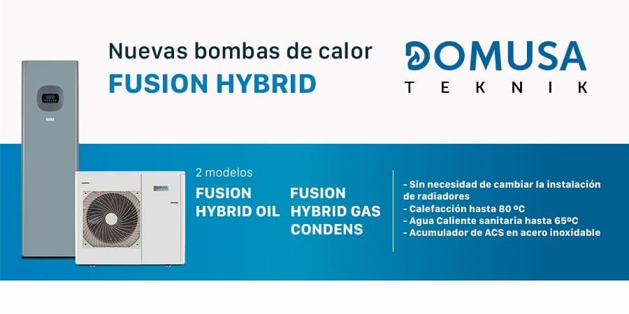 aerotermia híbrida domusa fusion hybrid