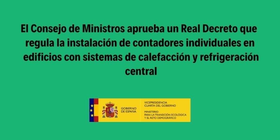 real decreto contabilización consumos individuales