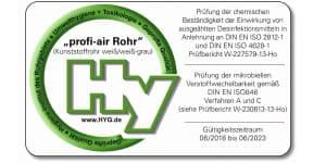 certificado material con tratamiento antibacteriano