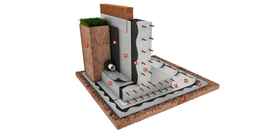 barrera de protección al gas radón
