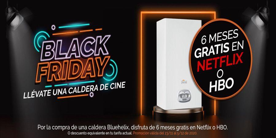 Un premio de cine al adquirir una caldera Bluehelix en el Black Friday de Ferroli