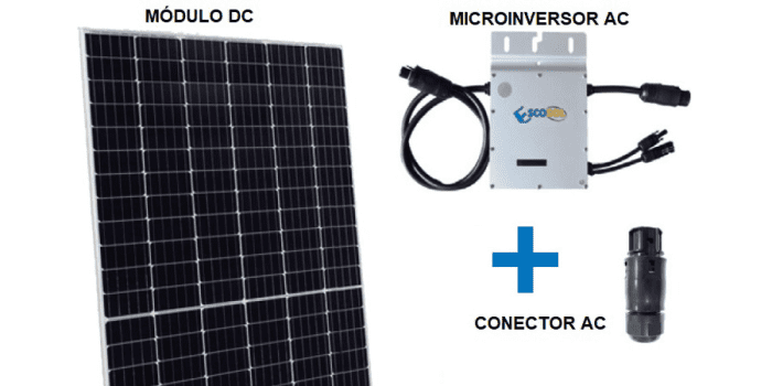 componentes instalar autoconsumo fotovoltaico balcon