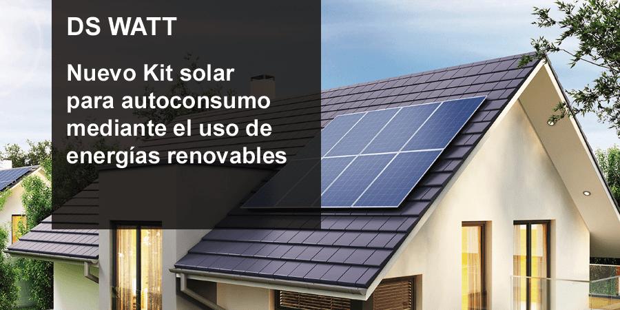Kit Solar para autoconsumo DS WATT de DOMUSA TEKNIK