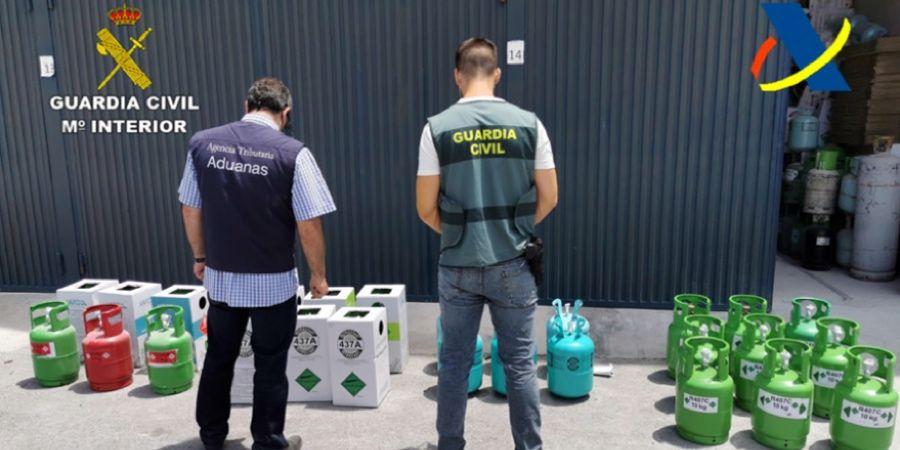 CNI colabora en la desarticulación de redes de tráfico ilegal de gases fluorados