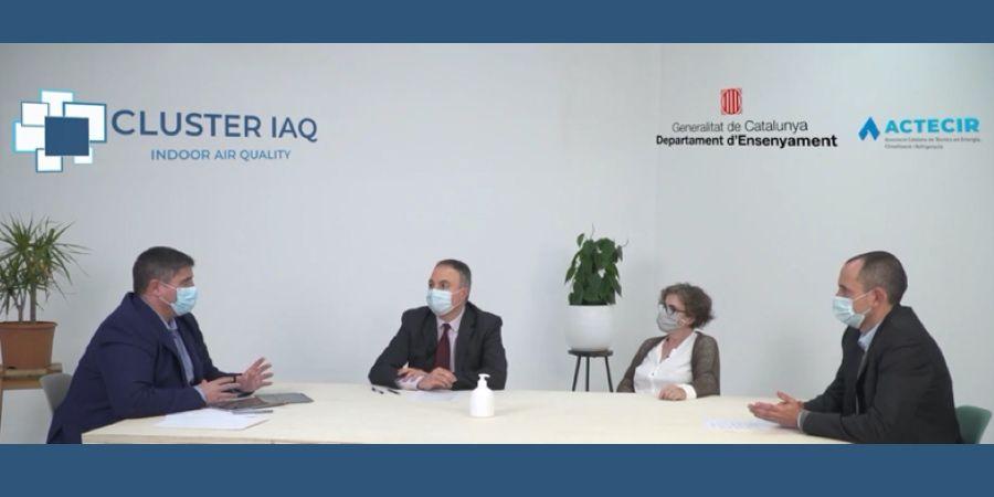 La calidad del aire en los centros escolares, a debate en la primera mesa redonda del Clúster IAQ