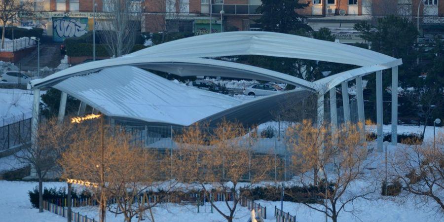 cubiertas de tejas ante nevadas