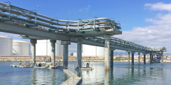 reparacion del puente sobre el río francolí