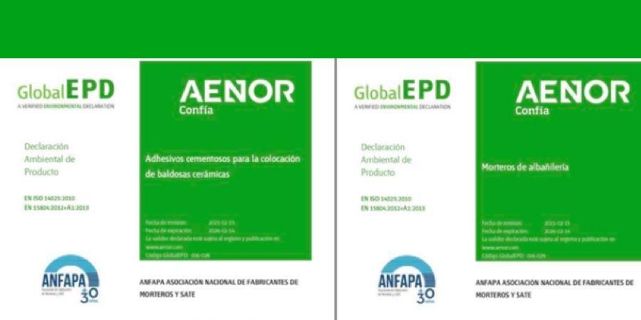 Nuevas DAP de morteros de albañilería y de adhesivos cementosos para colocar baldosas cerámicas