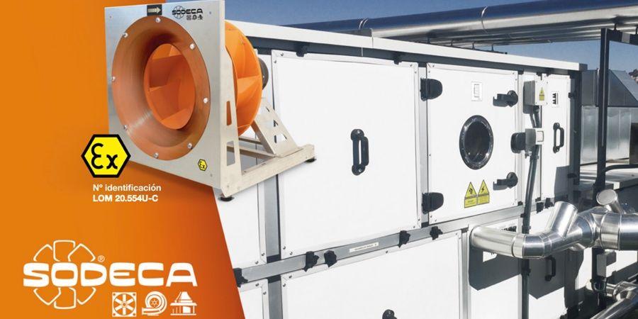 PF y PF/ATEX SODECA: ventiladores centrífugos de alta eficiencia tipo PLUG FAN
