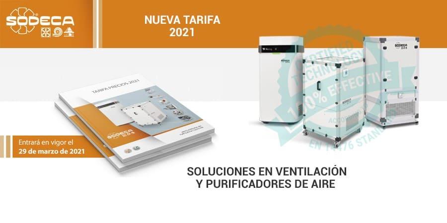 tarifa sodeca 2021