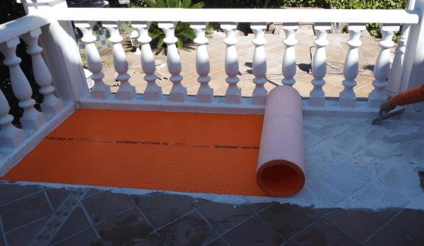 construir terrazas schluter ditra