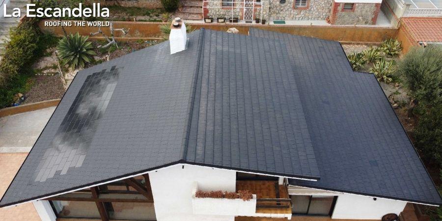 Sistema Solar Fotovoltaico Planum de La Escandella integrado en el tejado