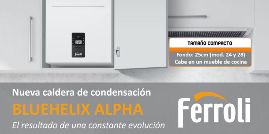 Nueva caldera Bluehelix ALPHA de Ferroli: innovación, diseño y confort