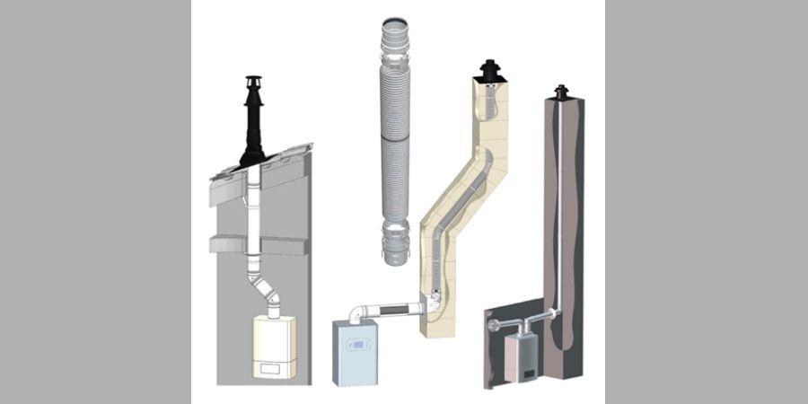 Nuevas líneas de chimeneas PPH de CABEL diseñadas para calderas de condensación
