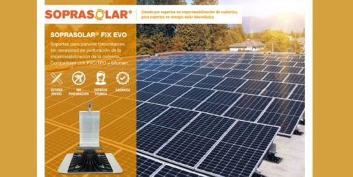 soprasolar soporte paneles fotovoltaicos soprema