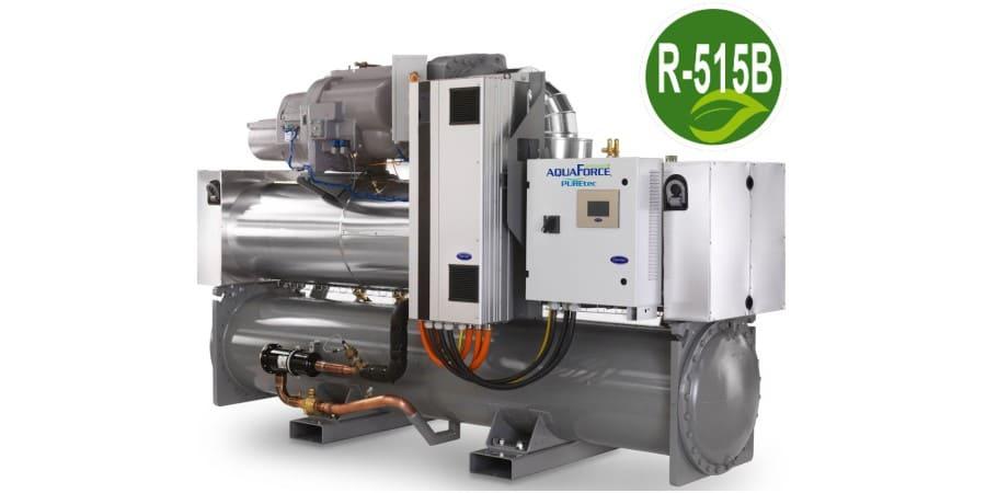 Refrigerante R-515B formando equipo con AquaForce 30XW(H)PZE de Carrier