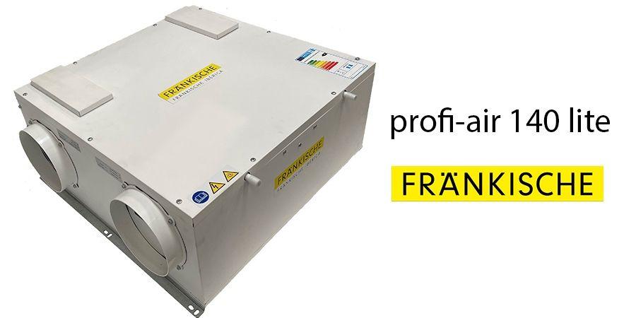 Ventilación eficiente, nuevo profi-air® 140 lite