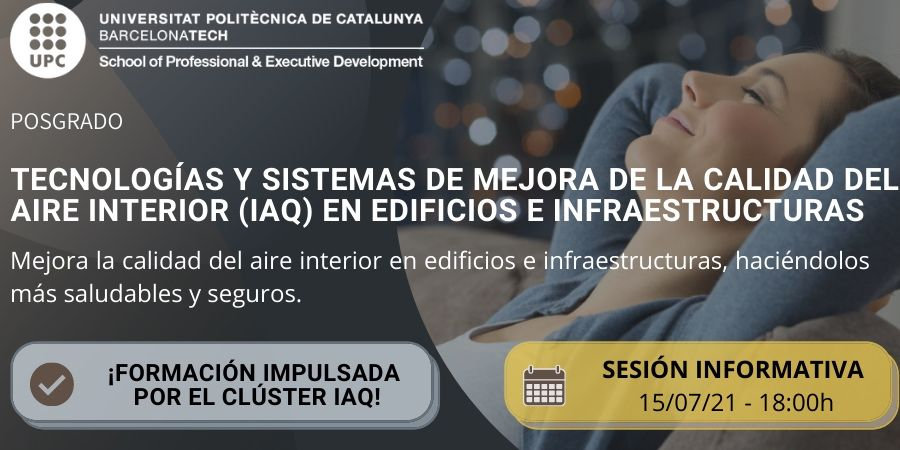 Sesión informativa del posgrado en Mejora de la Calidad del Aire Interior en Edificios e Infraestructuras