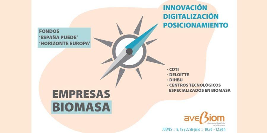 Seminarios online de AVEBIOM sobre posicionamiento, innovación y digitalización del sector de la biomasa