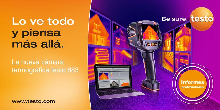 Cámara termográfica testo 883, una nueva herramienta de apoyo en la asesoría energética