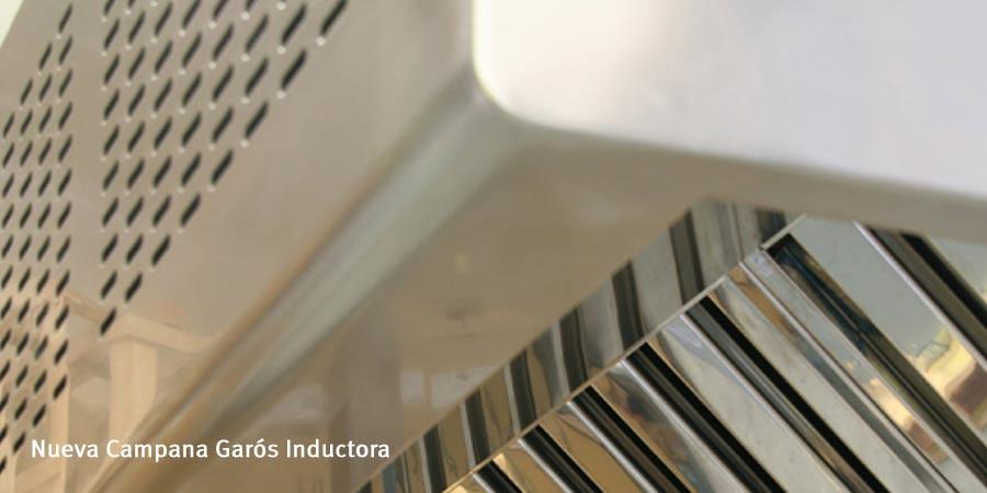 Campana extractora Garós Inductora: cocinas industriales eficientes y confortables