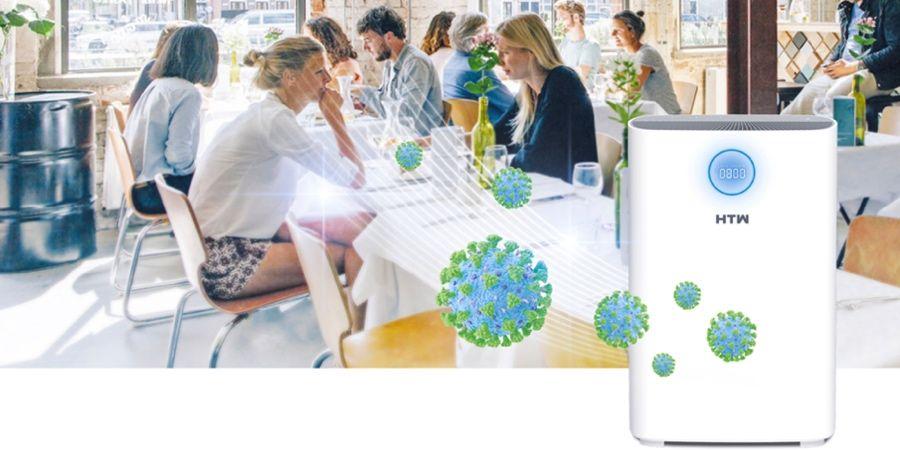HTW presenta Space Plus, el único purificador 3 en 1 que desinfecta, purifica y mide el CO2