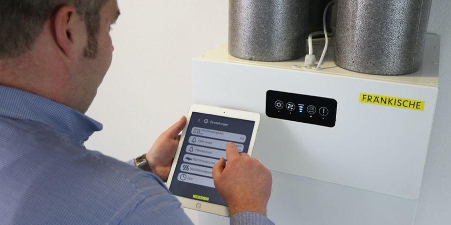 Fränkische ofrece aplicaciones y software para los equipos de ventilación profi-air