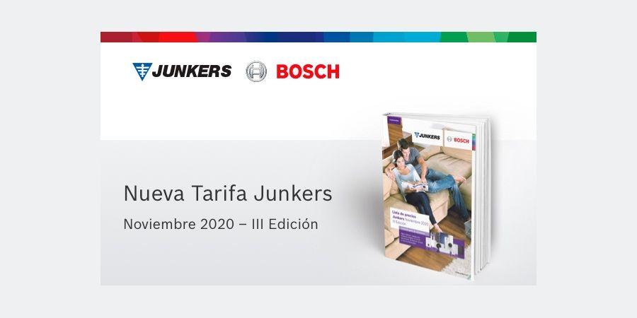 La nueva tarifa de Junkers Bosch presenta destacadas novedades en climatización