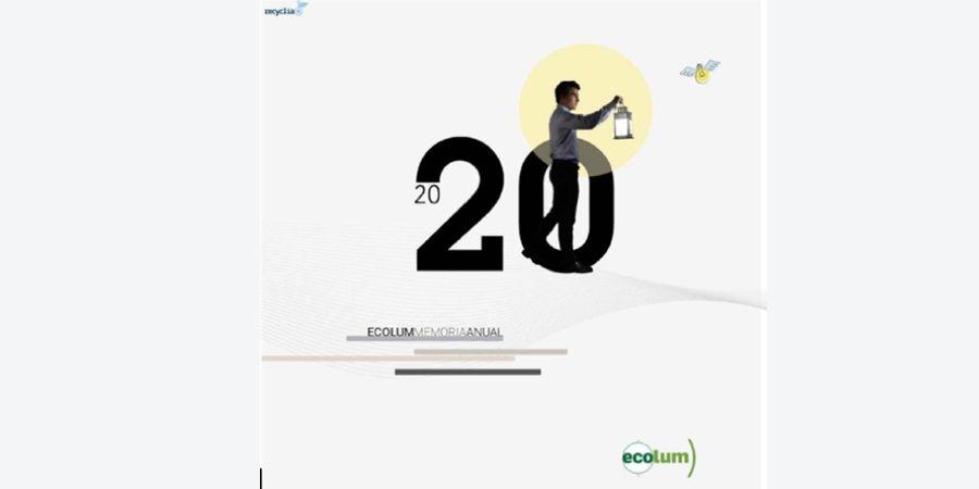 La Memoria 2020 de ECOLUM recoge la transformación de residuos en nuevos materiales para iluminación