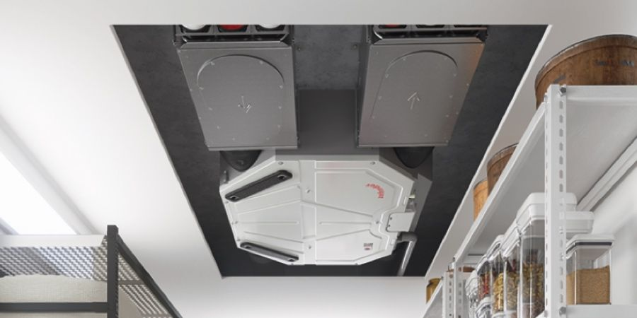 La nueva unidad de ventilación Zehnder ComfoAir Flex permite el montaje en falso techo