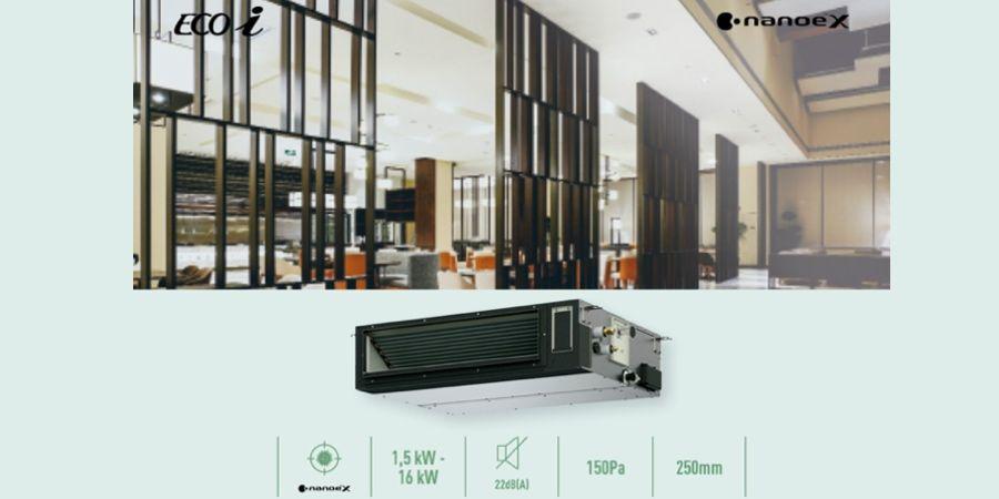 Unidades de conducto adaptable para la gama VRF de Panasonic: diseño y flexibilidad