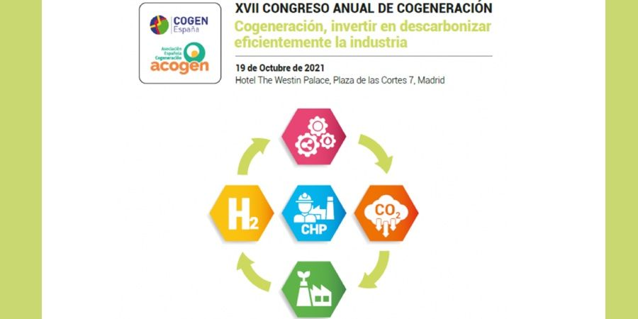 Abierto el plazo de inscripción para el XVII Congreso Anual de Cogeneración